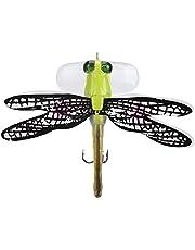 Tihebeyan Señuelos de Pesca, cebos Duros Artificiales Dragonfly flotando Moscas de la Pesca con Mosca para Trucha Bass Pike Equipo de Pesca