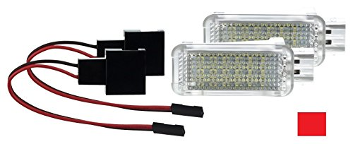 2 X Fußraumbeleuchtung LED SMD Modul ROT