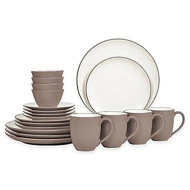 Noritake Colorwave 20-Piece Coupe Dinnerware Set, Clay