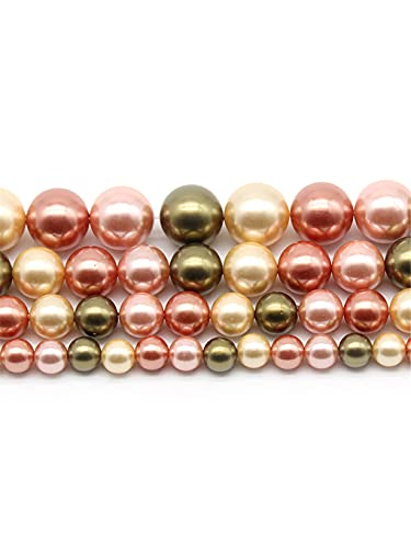 6-12 mm perlas de agua dulce rosas naturales redondas cuentas espaciadoras sueltas para hacer joyas DIY pulsera collar 45 pulgadas hebras rosa 12 mm aprox. 30 cuentas