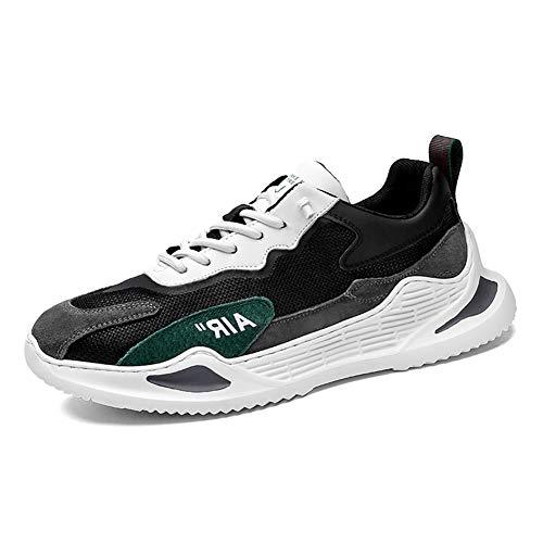 NAMENLOS Lauf Herren-Walking-Schuhe Leichte atmungsaktive Air Cushioned Crosstrainer Fitness Sport Jogging und Fitnessstudio athletischer Turnschuh,Grün,41