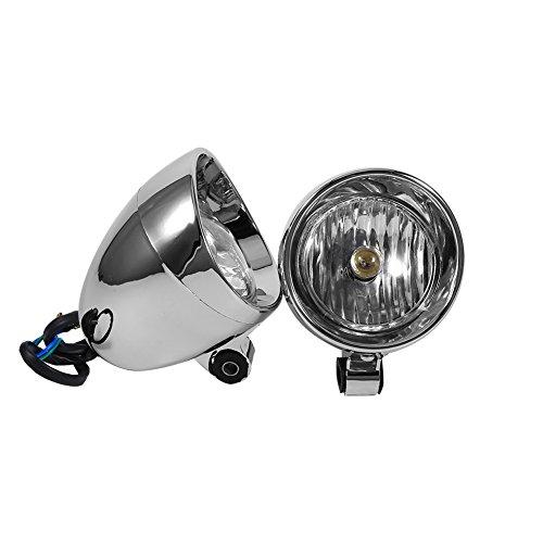 Keenso Universal Lámpara de antiniebla para Motocicleta, 12V 10W luz de Niebla de conducción, Impermeable, Luz antiniebla de la Bala de la Moto