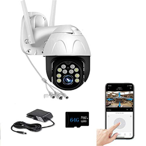 1080P HD WiFi-Netzwerkkamera, Sicherheitsüberwachungskamera für den Außenbereich, mit intelligenter Erkennung und...