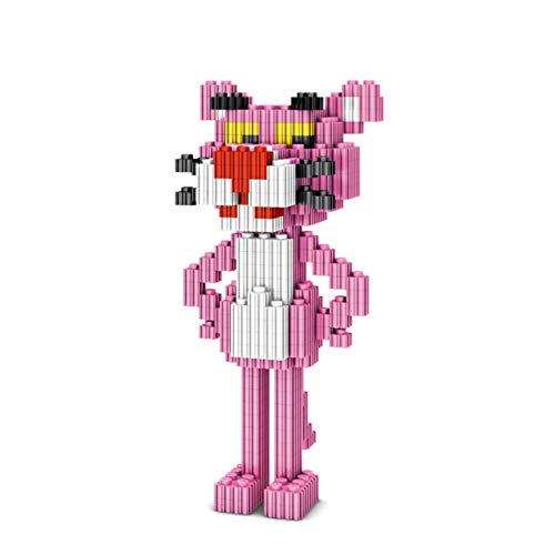 Pequeños bloques de construcción de partículas Pop rosa Panther PVZ Desarrollo de bloques de construcción mental Muñeca de juguete Modelo Mini Q Versión Versión Versión Montaje de acción Muñeca de reg