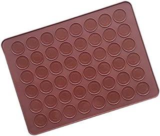 Souarts Tapis à Macarons en Silicone de 48 Coques - Plaques à macarons Tapis de Cuisson pour Four à Fondant (38 * 28cm)