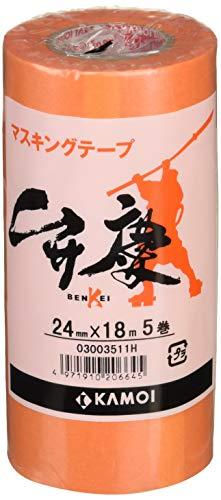 カモ井 マスキングテープ 弁慶 24mm×18m 5P [養生テープ]