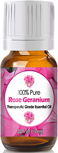 Rose Geranium Essential Oil for Diffuser & Reed Diffusers (100% Pure Essential Oil) 10ml