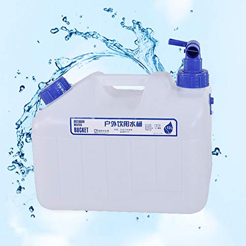 Makeover 10~25L Recipiente De Agua para Beber Agua del Grifo Bidón De Agua para Acampar Jerrican con Grifo para Exteriores, Senderismo