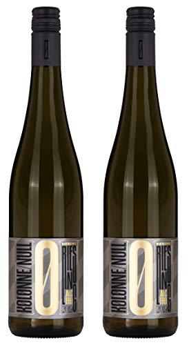 Kolonne Null - Alkoholfreier Riesling Stillwein vom Weingut Georghof - 0% Vol. Alk.- 2er Pack - 2x 0,75 L Flasche