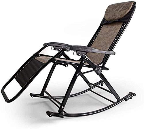 N/Z Home Equipment Lightweight Sun Lounger Garden Rocking Chair Folding Recliner OutdoorAdjustable Sun Lounger Rocker ZeroGravity Seat (Color: C) (Color: E) (Color : F)