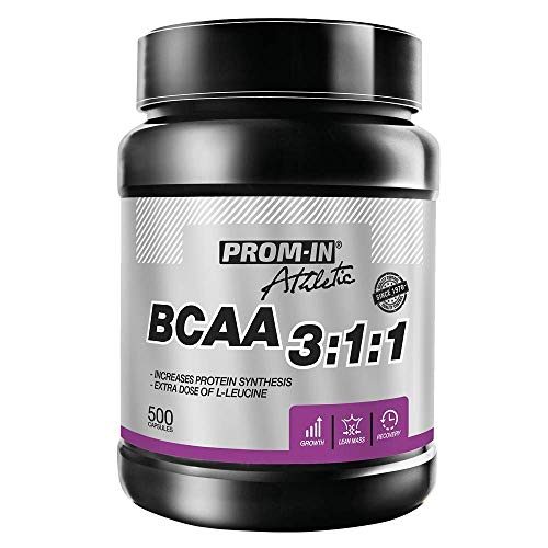 BCAA 3:1:1 Optimized branched Chain Amino acids to Build and Repair Muscles by PROM-IN (240 Capsules)