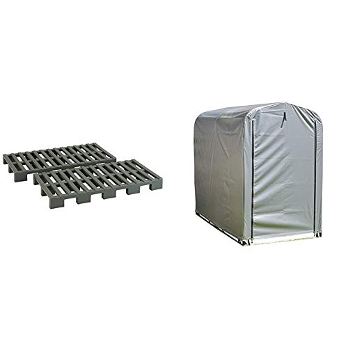 [For storing tires and snow tools] Simple garage set small (width 39.0 x depth 74.4 x height 62.0 inches (99 x 188 x 157 cm), PVC material