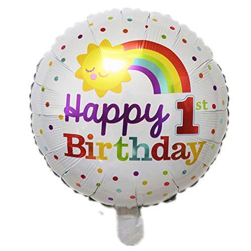 WUJIANCHAO Sonrisa Arco Iris Nube Globo niña 10 años Feliz cumpleaños Fiesta Globos jardín de Infantes niños Juguete decoración Globos