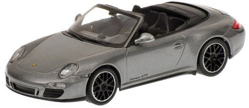Minichamps 410060130 - Porsche 911 GTS Cabriolet (997 II), Maßstab: 1:43, metallic grau