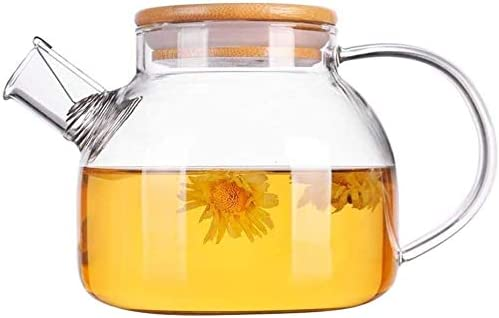 WHLONG Glass Teapot With Functional Strainer Max 79% OFF Borosilic Industry No. 1 Stainless