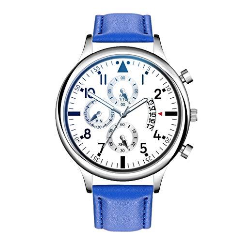 Quarzuhr Männer Armbanduhren für Herren,Business Chronograph Quarzuhr Luxusuhren Quarzuhr Edelstahl Zifferblatt Lässige Armbanduhr von Evansamp(Weiß)