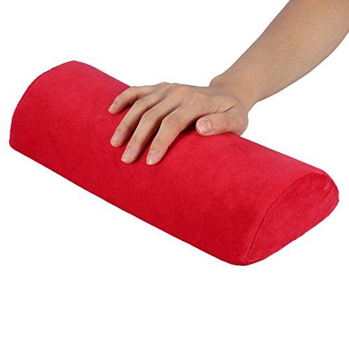 Ponacat Cuscino di Riposo per Nail Art Design Staccabile con Cerniera in Spugna Cuscino per Unghie Resto per La Mano Supporto per Braccio Professionale da Tavolo Stazione da Scrivania