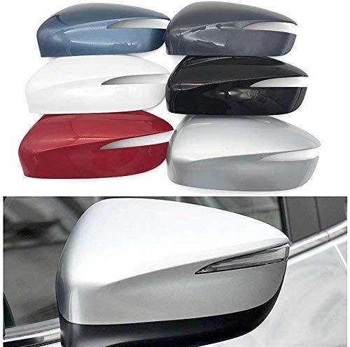 ZHAOOPHengfei Car Accessories Cubierta de la Carcasa del Espejo retrovisor, para Mazda CX-3 CX-4 CX-5 (Color: L Blanco) -L Gris