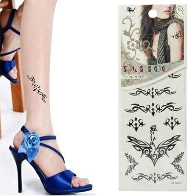 - Tattoo Tatouage temporaire-Pierre a tatouer-Body Art pour Fille Party amovible-Ailes Tribal - 9 modèles différents