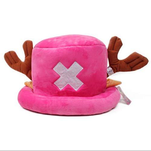 One Piece Tony Chopper Cosplay Hut Rosa für Kinder und Damen