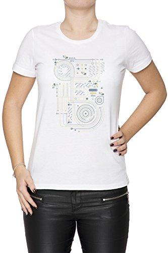 Circuito 2 Mujer Camiseta Cuello Redondo Blanco Manga Corta Tamaño XS Women's White X-Small Size XS