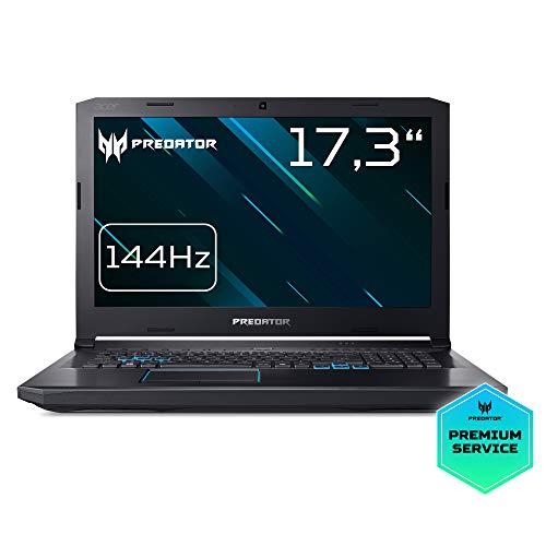 Predator Helios 500 (PH517-51-79UB) 43,94 cm (17,3 Zoll Full HD IPS matt) Notebook (Intel Core i7-8750H, 16 GB RAM, 1000 GB HDD, 512 GB PCIe SSD, NVIDIA GeForce GTX 1070, Win 10) schwarz/blau
