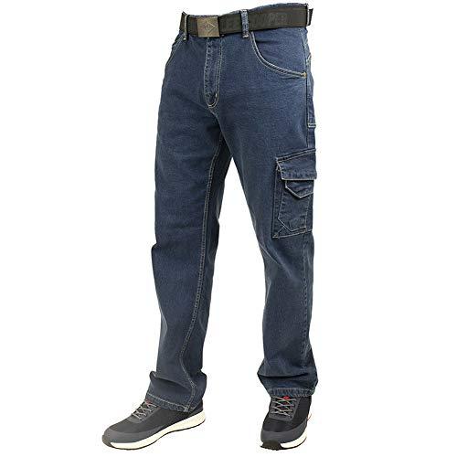 Lee Cooper Workwear LCPNT239 Sicherheits-Schreinerhose, Stretch-Jeans-Arbeitshose, leicht, blau, 34w