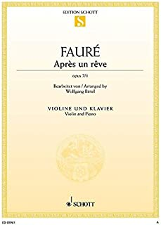 Après un Reve Op. 7/1 Violon