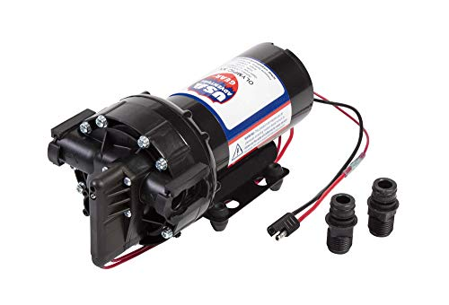 USA Adventure Gear ProGear 5550 High Pressure Professional Grade Washdown Water Pump | Made in the USA | 12 Volt DC | 5.75GPM | 14 Foot Lift | 80 PSI Pressure | Corrosion Resistant | Sealed Switch