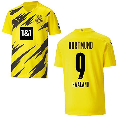 Puma BVB 2021 - Camiseta de fútbol para hombre, talla M, diseño del Borussia Dortmund 10 000 EUR): 9 Haaland