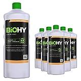 BIOHY Creme Seife (6x1 litro) | Jabón Crema 6 Botellas de 1 litro | Jabón de Manos inocuo para la Piel | hidratante e Inodoro | Repuesto de jabón de Manos del Sector Vegetal |SIN FOSFATOS