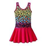 YIRONGWANG Girls Swimsuits, One Piece Swimsuit for Girls Bathing Suit Beach Princess Swim Dress Quick Dry Swimwear 3-9 Years