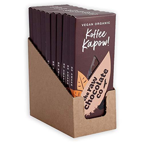 コーヒーカポウ ローチョコレート 38g×1ケース Koffee Kapow Raw Chocolate オーガニック ビーガン ヴィーガン フェアトレード スーパーフード 乳製品不使用 砂糖不使用 ギルトフリー 低GI 低糖質 低カロリー