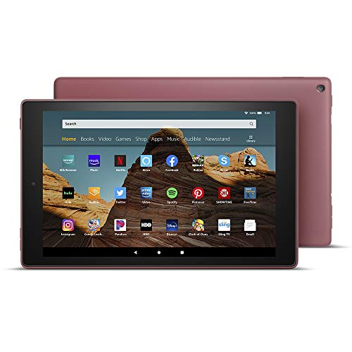 Fire HD 10 Tablet (10.1' 1080p full HD display, 64 GB) – Plum