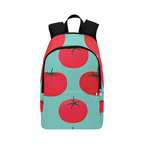 NANA Travel Lunch Bag Red Sour Sweet Vegetable Tomato Durable Water Resistant Classic Best Backpack Kid Sport Bag College Book Bags for Women Canvas Daypack