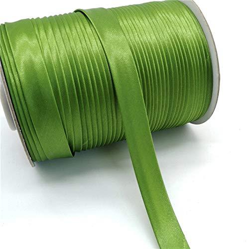 CUIAIDING lint 5 yards 15mm satijnen lint naaien, rand naaien lint voor kleding lakens kussens hoeden verschillende stoffen rand naaien, legergroen