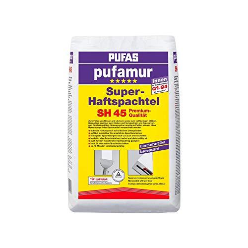 Pufas SH45 pufamur Super-Haftspachtel Kunstharzvergütete, faserverstärkte Gipsspachtelmasse für innen, weiß, 25kg