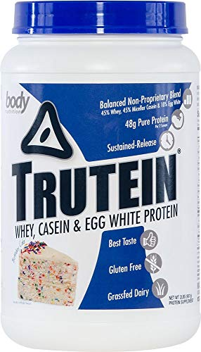 Body Nutrition Trutein Birthday Cake 2lb Protein Shakes/Shake, Meal Replacement Drink Mix, Post/Pre Workout Recovery Shake Powder, Breakfast Shake