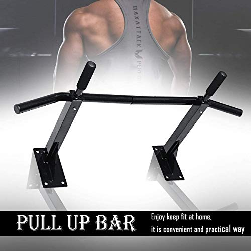 Lunchbox.com Wall Pull Up Bar, Body Fitness Multi-Grip Chin-Up/Pull Up Bar Heavy Duty Workout Quick Installation Trainer for Home Gym Equipment