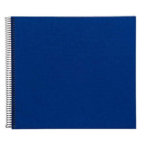 Goldbuch Spiralalbum, Bella Vista, 35 x 30 cm, 40 weiße Seiten, Leinen, Blau, 25376