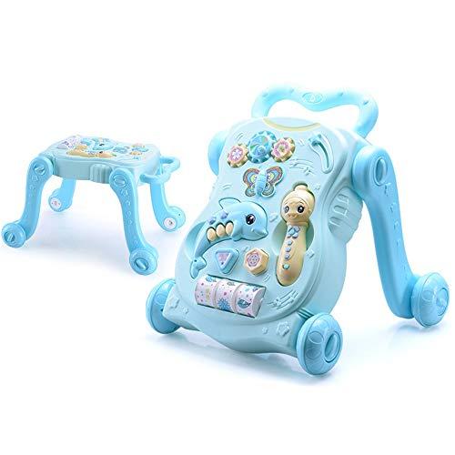 Affordable Baby Walker Trolley Infant Walking Walker Stroller Toy Study Table (Color : Blue)