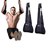 Ab straps Hanging Abdominal Slings - Hanging Ab Straps - Ab Sling Straps - Pull Up Straps - Ab Straps for Pullup Bar - Hanging Elbow Straps - Pull Up Bar Straps - Arm Straps for Exercise and Workouts