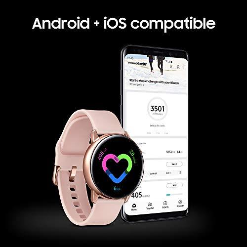 Samsung Galaxy Watch Active (40mm, GPS, Bluetooth), Rose Gold (US Version)