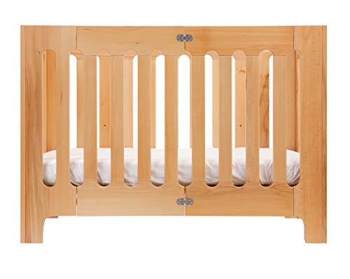 alma papa crib - end panels and base board - natural