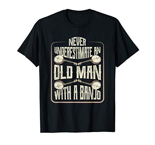 Banjo Vintage Retro Bluegrass Musik Fans Banjo Player T-Shirt