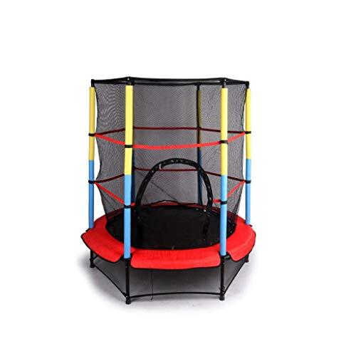 Yuany Trampoline voor binnen en buiten Jumpers Voor Junior High School Kinderen En Peuters Met Veiligheidsnet Cover En Schuim Pad Tot 50 Kg55 Inch Trampoline