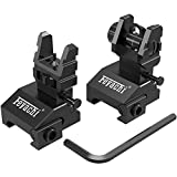 Feyachi S17 Flip Up Sights Front and Rear Iron Sites ( Tool Free Adjustment ),Backup Sight Set