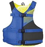 Stohlquist Kids PFD Life Jacket - Blue + Black, 50-90 lbs - Super-Soft Lightweight Buoyancy Foam,...