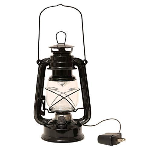 Fenteer Aufladbare Dimmbare LED Öllampe Sturmlampe Petroleumlampe zum Tragen - Schwarz
