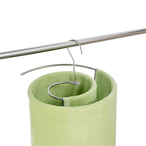 幸香葉 スパイラルハンガー、乾燥工程を高速化するシーツ用ループハンガー保管に便利で、ステンレス鋼素材は錆びにくい、強い支持力、クリップ/壁フックでの多機能使用